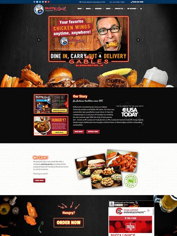 Bloomington Restaurant Websites - BuffaLouie's