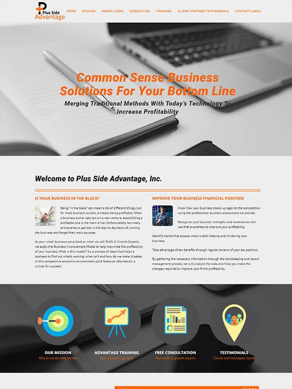 Bloomington Web Design - Plus Side Advantage, Inc