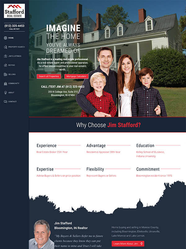Bloomington Web Design - Stafford Real Estate