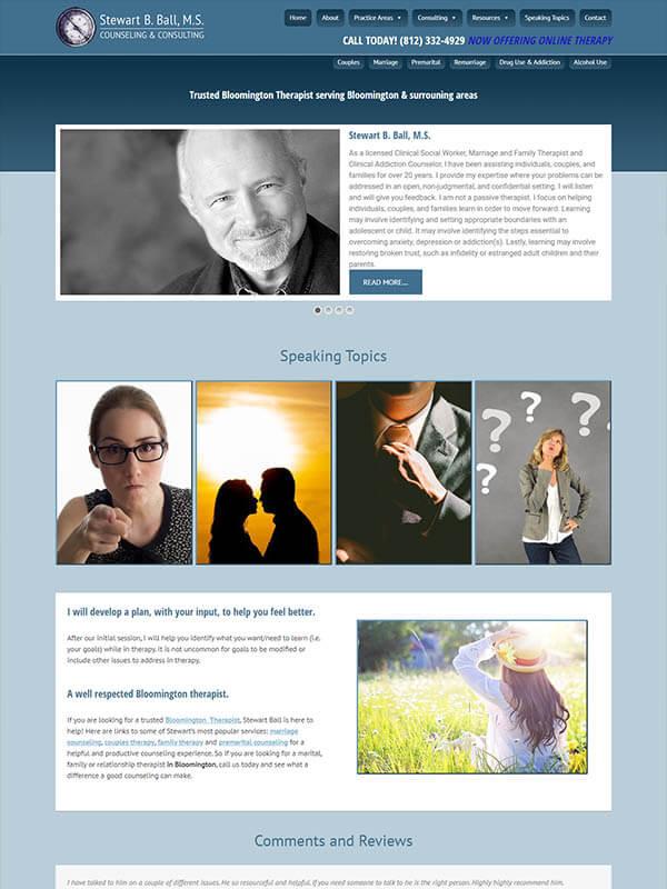Bloomington Website Design - Stewart B. Ball