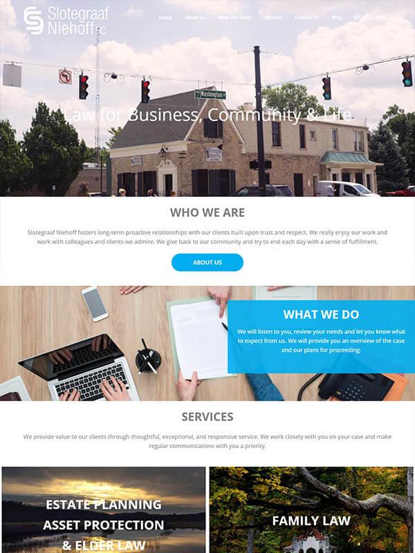 Bloomington Website Hosting - Slotegraaf Niehoff PC