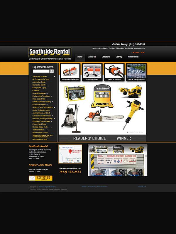Bloomington Website Hosting - Southside Rental