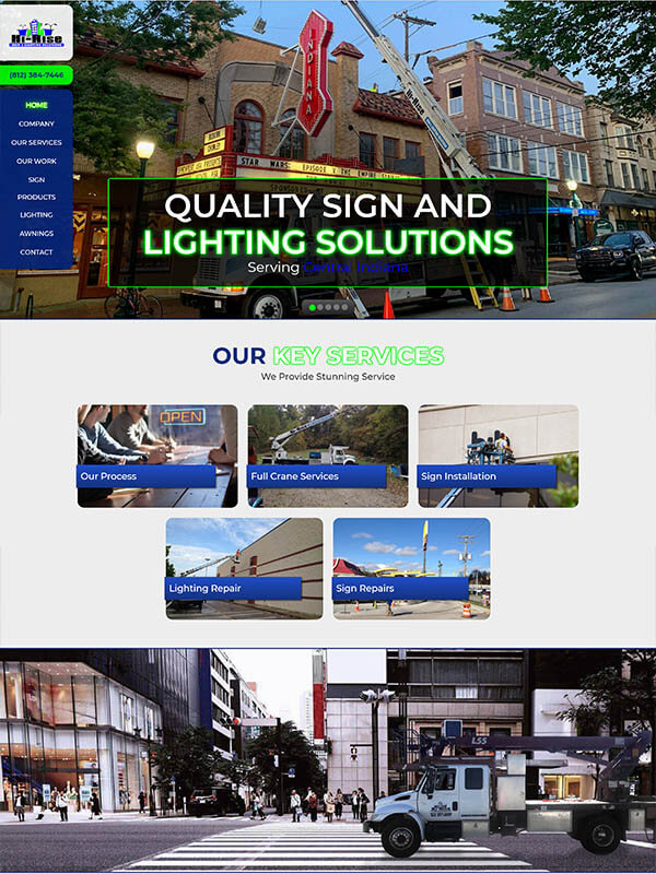 Bloomington Websites - Hi-Rise Sign and Lighting Solutions