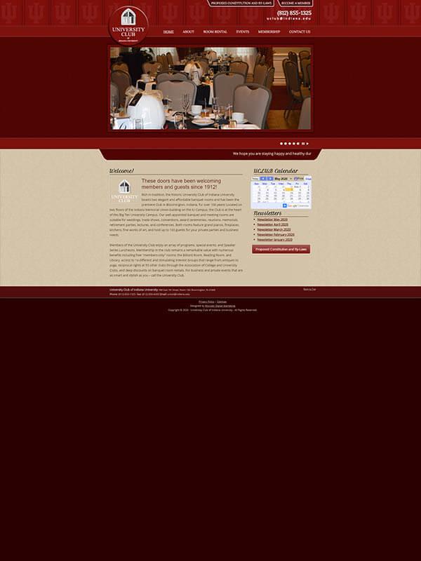 Bloomington Websites - University Club of Indiana University