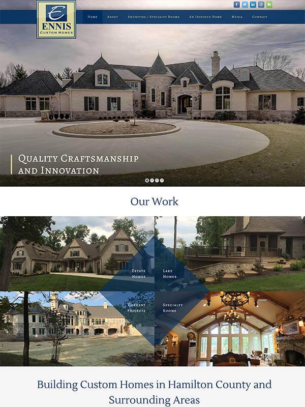 SEO Optimization Bloomington - Ennis Custom Homes