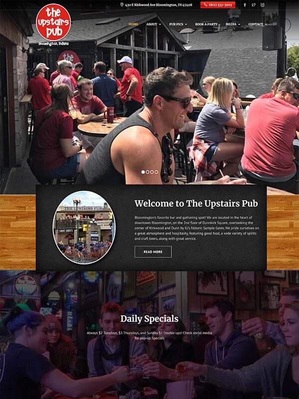 Web Design Bloomington - The Upstairs Pub