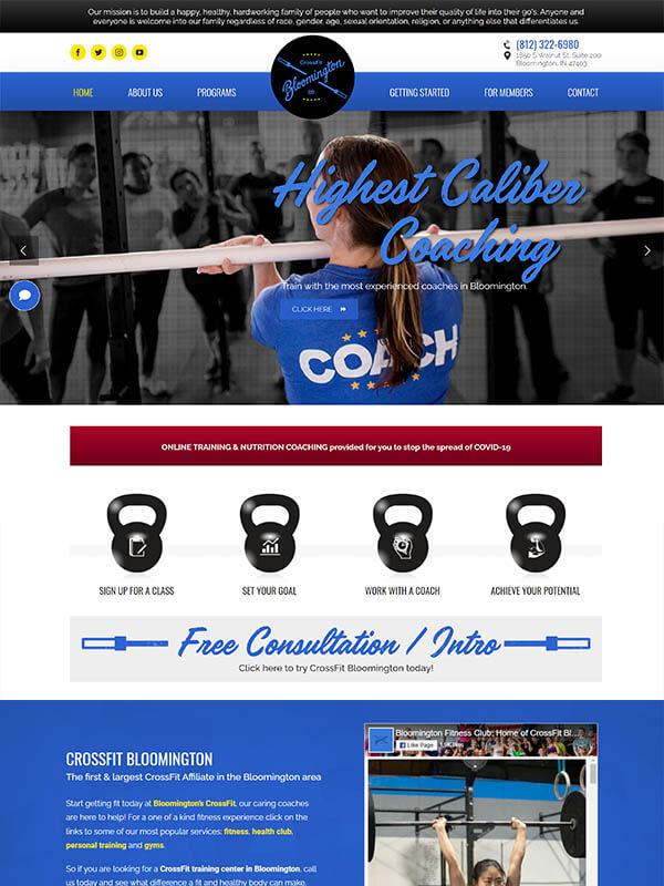 Website Design - CrossFit Bloomington