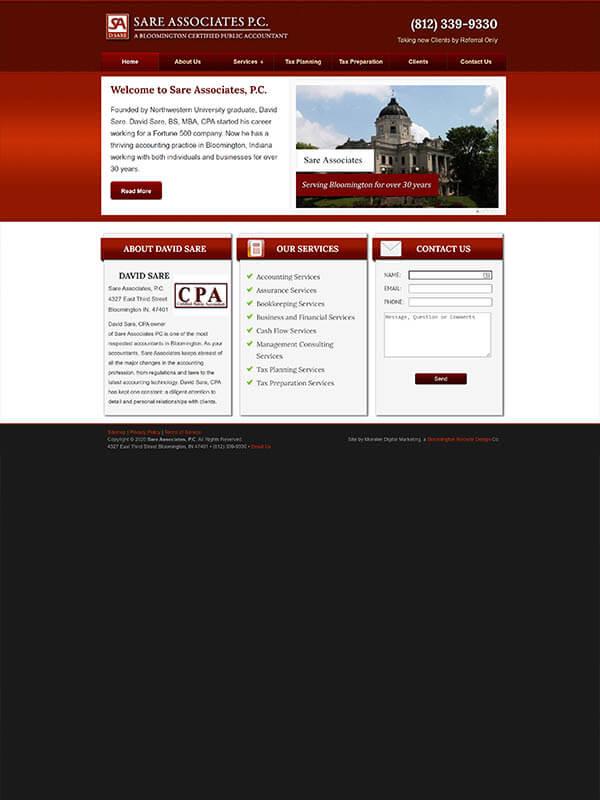 Website Design in Bloomington - Sare Associates, P.C.