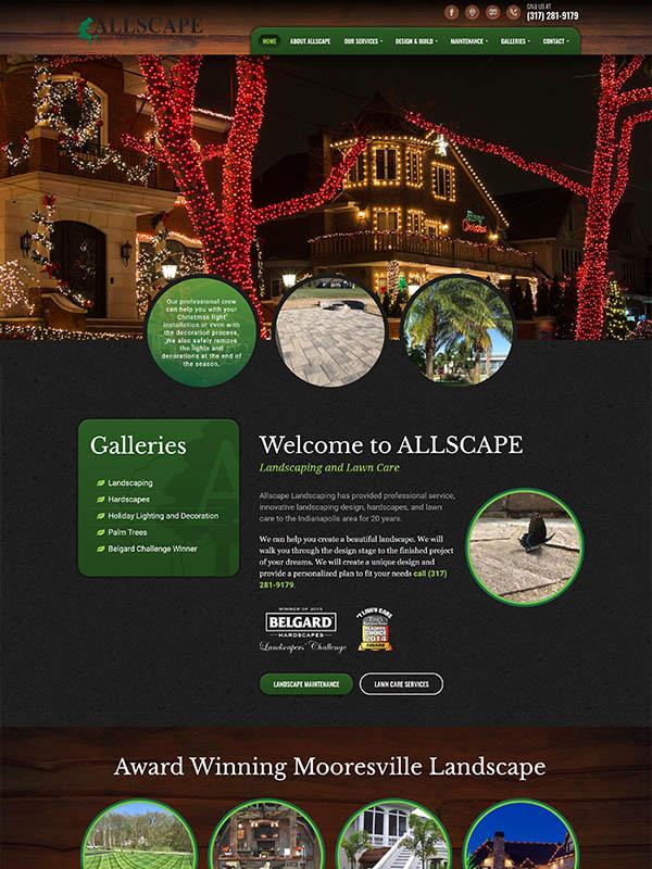 Bloomington, IN Web Design - Allscape - screenshot