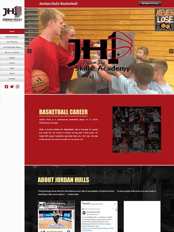 Bloomington Website Design - Jordan Hulls Skills Academy