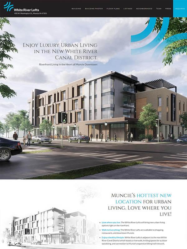 Bloomington Website Hosting - White River Lofts