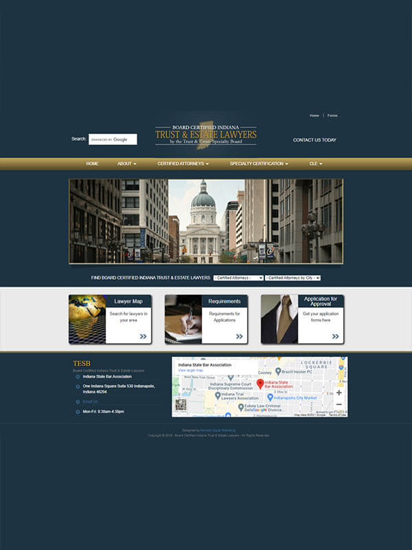Board Certified Indiana Trust and Estate Lawyers - sceenshot