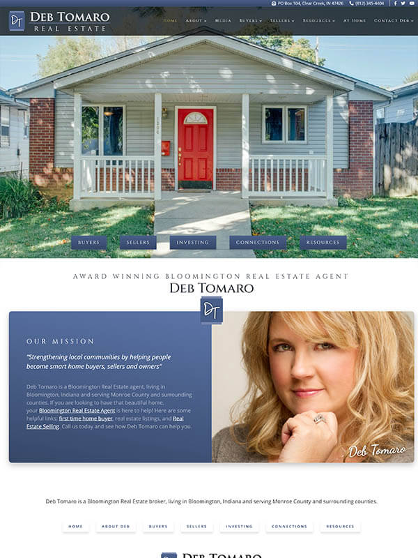 Web Hosting Bloomington - Deb Tomaro Real Estate
