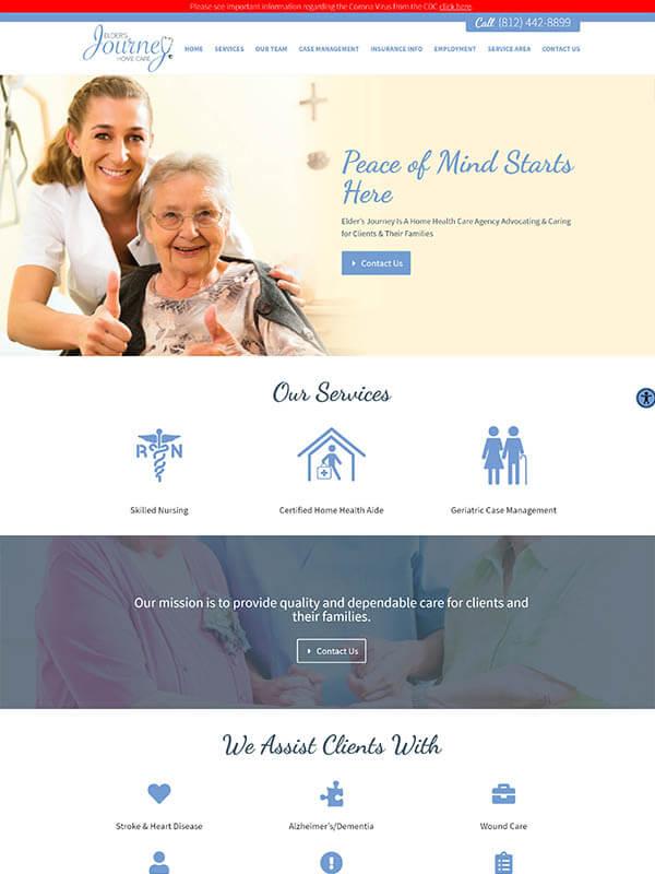 Website Design Bloomington - Elder's Journey Home Care