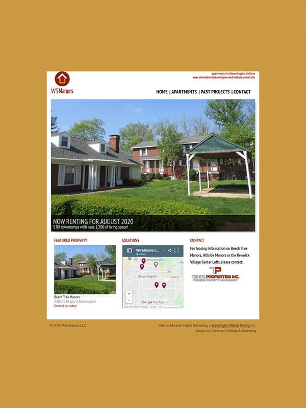 Bloomington, Indiana Website - WS Manors