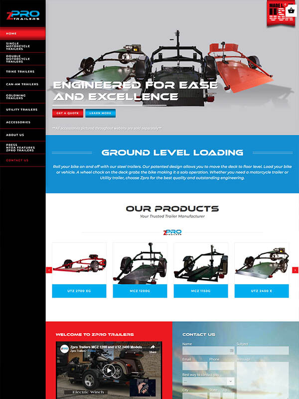 Bloomington, Indiana Websites - Zpro Trailers