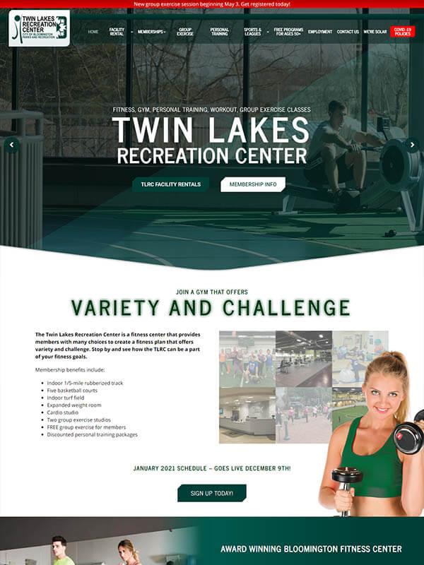 Bloomington Web Design - Twin Lakes Recreation Center