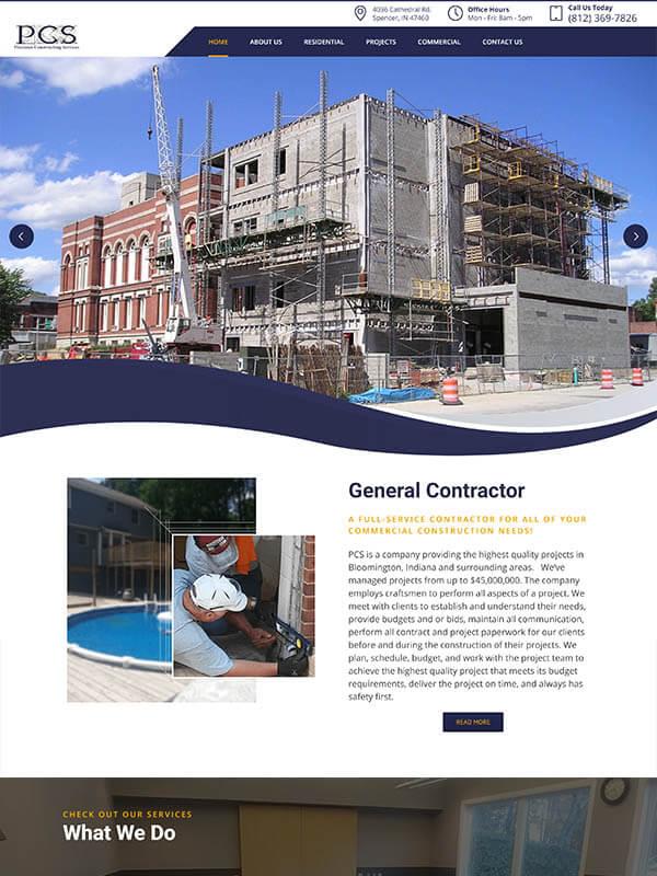Bloomington Web Design - Precision Constructing Services Inc