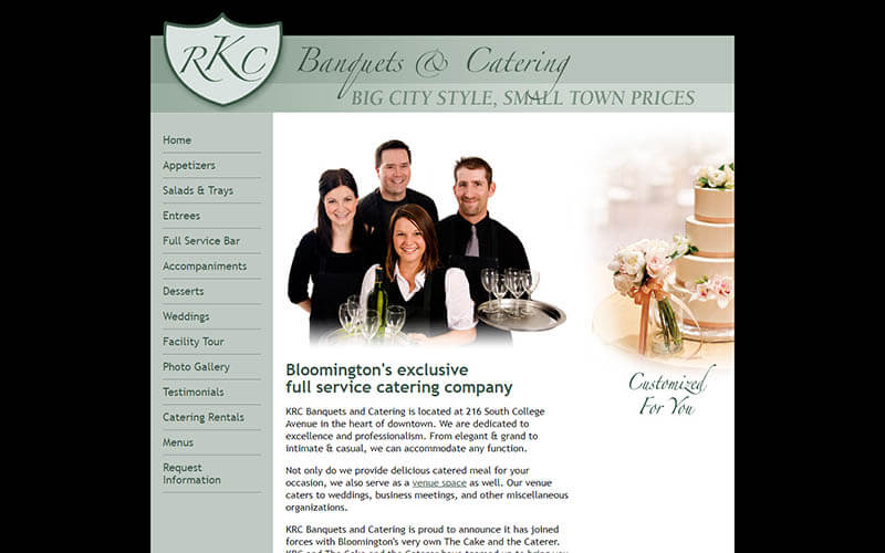 KRC Catering - before snapshot