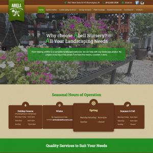 Featured Website - Abell Nursery