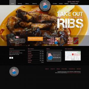 Featured Website - Smokin' Jack's Rib Shack