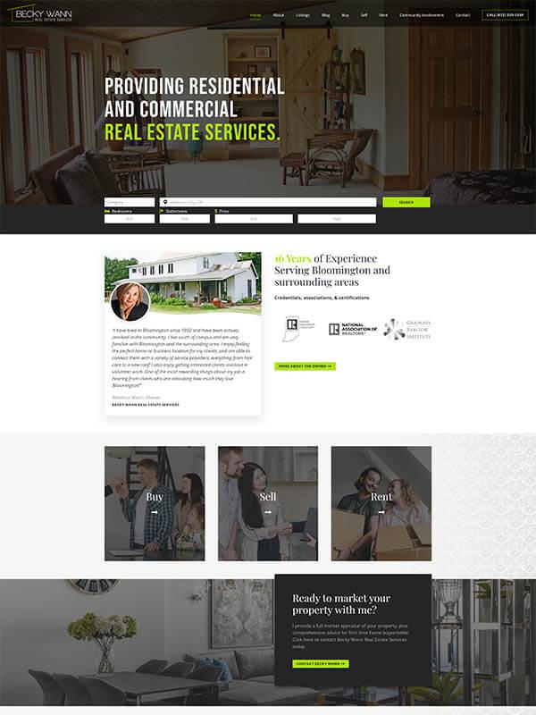 Bloomington Websites for Realtors - Becky Wann